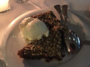 Walnut pie with ice cream - unique and delicious