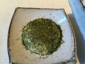 Butter emulsion with dill for langoustine