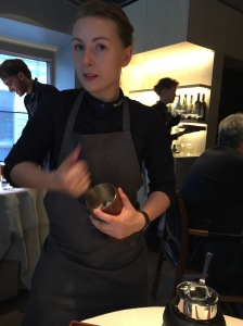 She works it tableside