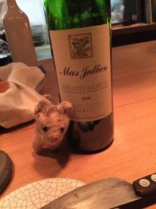 Frankie enjoyed the wine