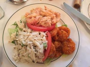 Crabmeat maison, crawfish maison and shrimp remoulade