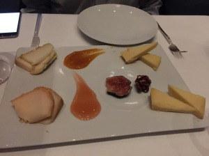 Artisanal cheese selections with accompaniments