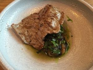 Aged ribeye, grilled eggplant caviar, basil, black garlic