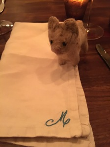 Frankie loves an embroidered napkin