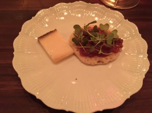 Cheese: Tomme de Fontenay, pluot jam and crumpet