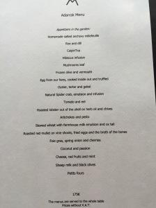 Adarrak menu