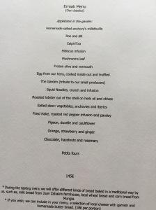 Classic menu