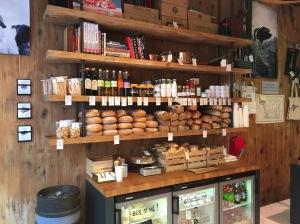 bread and condiment sale counter