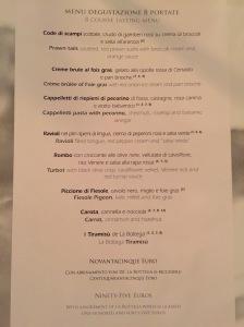 8 course menu