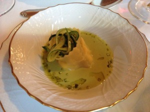 Agnolotto with pistachio
