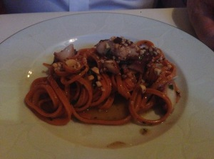 Pimenton chitarra with octopus
