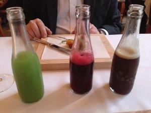 Celery, cherry and coffee sodas