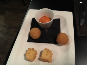 Idiazabal cheese fritters and