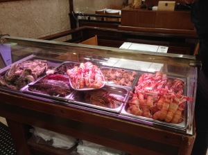 one of the fresh seafood counters