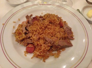Duck and rice Portuguese style with sausage and ham
