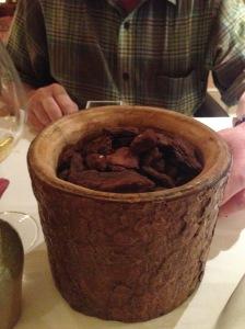 Pine bark: chocolates (just 2 pieces)