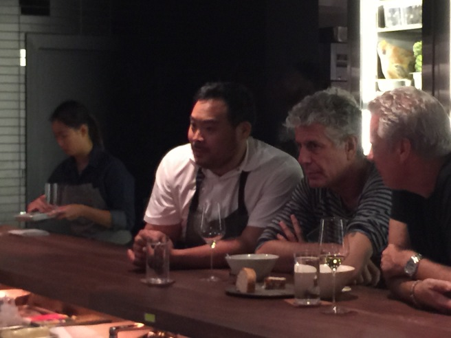 David Chang, owner, and Anthony Bourdain