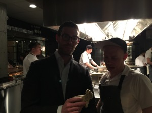 Staff fascinated with Frankie (Chase Sinzer, sommelier)