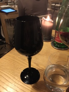 black glass for mystery wine