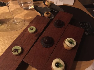 Wheat grass praline, dark chocolate , poppy seed biscuit marscapone, malt with caramel