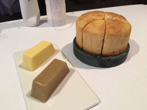 housemade cornbread with regular and bacon butter