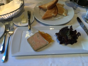Foie gras terrine, ice wine gelee, toast