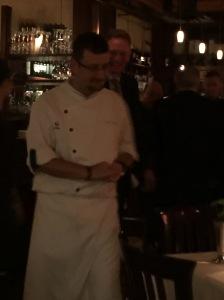 Chef Pino Posteraro roams the restaurant