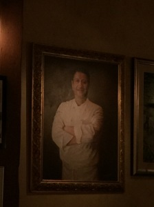 Chef's portrait on the wall