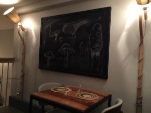 Mushroom people art work