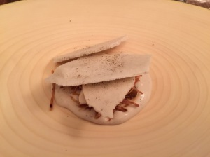 Chestnut cream and meringue