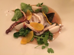 same squid and turnip with orange