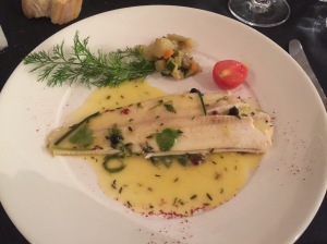 Sole with citrus and herbs