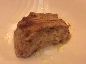 lasagna (house specialty)