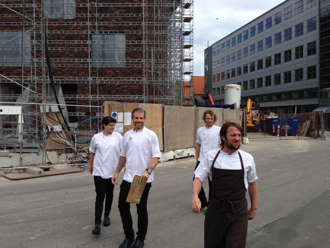 We met the chefs on the way in. Wonder where they were going?