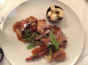Veal, artichoke, apricot, maitake, white anchovy, gnocchi