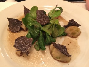 half portion artichokes and truffles