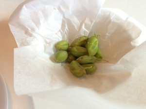 Green chickpeas with salt from the Anana valleys