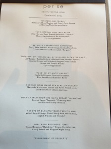 Chef's tasting menu