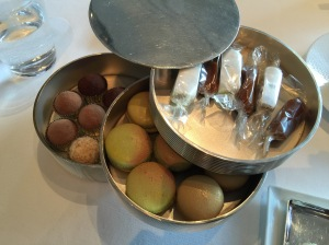 caramels and nougets, macaroons, truffles
