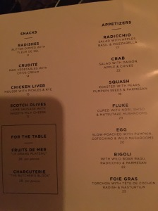 menu beginnings
