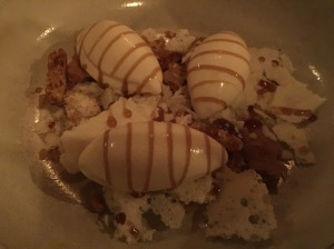 Milk and Honey - shortbread, brittle and ice cream
