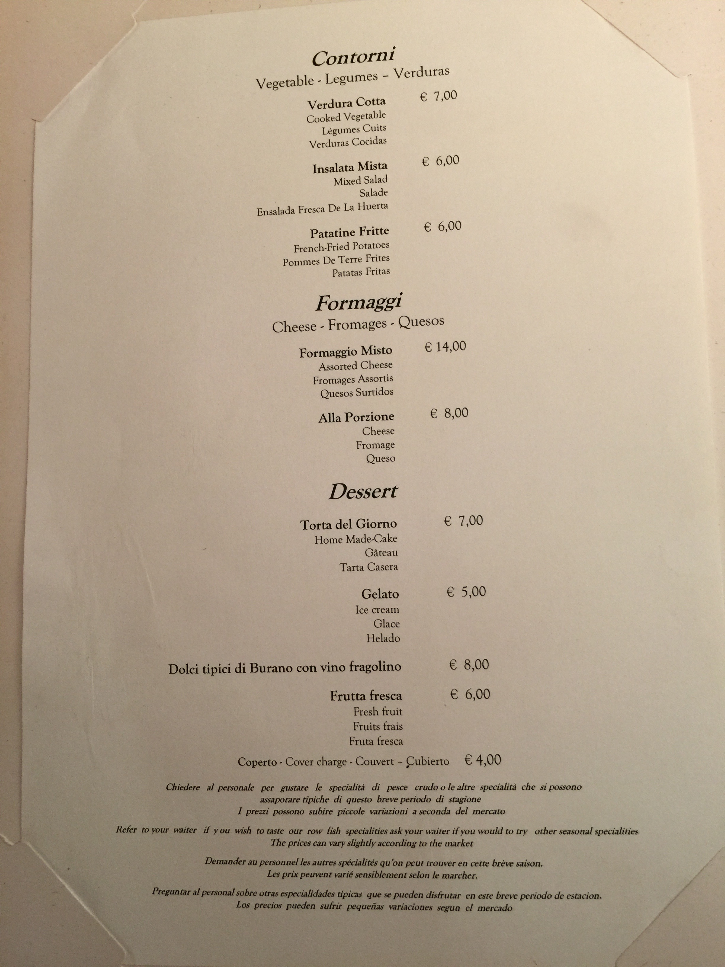 Trattoria Al Gatto Nero Da Ruggero Venice 102315 Dining With