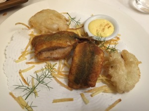 Fried sardines, fennel and potatoes