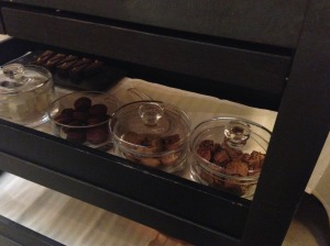Dessert cart - marshmallows, macaroons, etc.