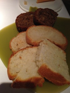Bread selection, wheat, lemon and white
