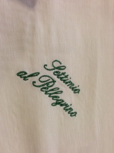 Napkins and tableclothes are embroidered
