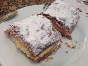 Custard filled pastry dessert