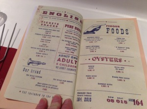 menu English