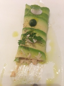 Crab with dill jelly and avocado
