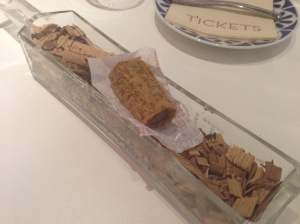 """Cork"" dessert: Lavazza coffee brioche with praline mousse"